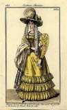 A fashion plate from 1825 showing the basic look I was going after.