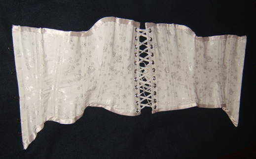 Civil War Corset Lying Flat