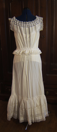 Edwardian Corset Cover and Petticoat Back